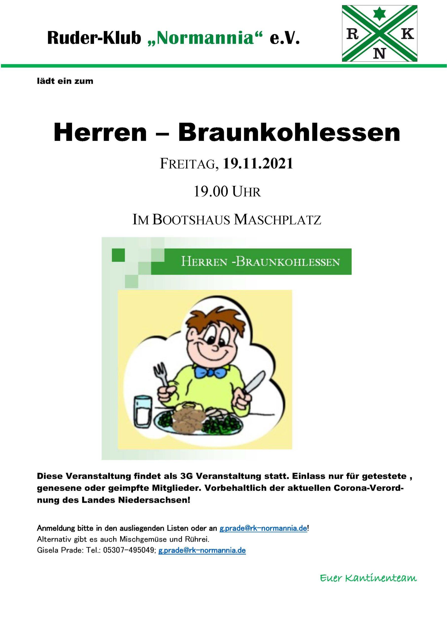 Herren-Braunkohl-Essen